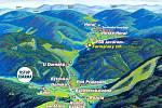 Karlovský gastrofestival. Mapa údolí.