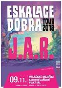 Plakát ke koncertu skupiny J.A.R. ve Valašském Meziříčí