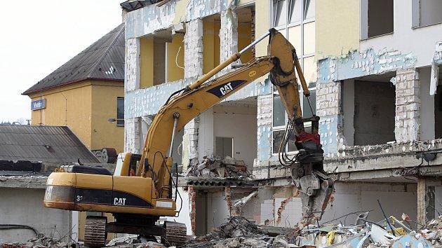 Bourací práce bývalé banky ČSOB