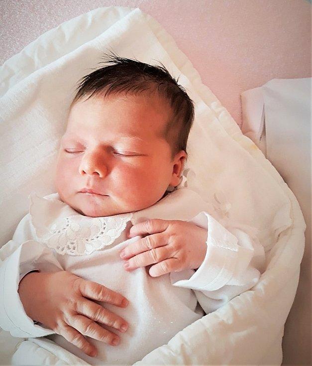 Barbora Pelcová, Kopřivnice, narozena 10. ledna 2021 ve Valašském Meziříčí, míra 51 cm, váha 3820 g
