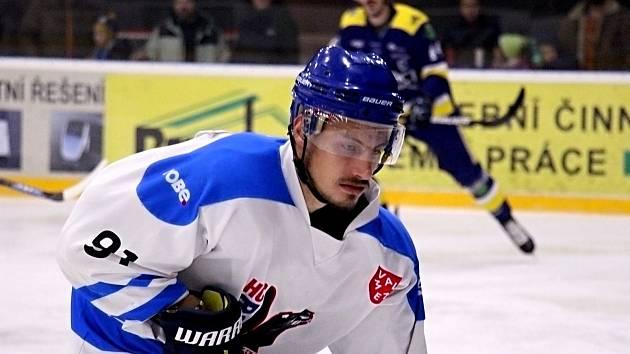 Hokejisté Valašského Meziříčí (v bílém). Ilustrační foto
