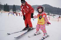 Výuka lyžování v Resortu Valachy.