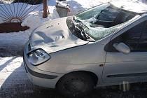 Kuriozní nehoda se stala v úterý kolem desáté dopoledne v Horní Lidči na Vsetínsku.