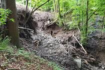 Blesková povodeň v květnu 2019 odhalila nebezpečnou bývalou skládku podniku Tesla v místní části Tylovice v Rožnově pod Radhoštěm.