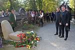 Pietní rozloučení a uložením urny Dany Zátopkové na Valašském Slavíně v Rožnově pod Radhoštěm.