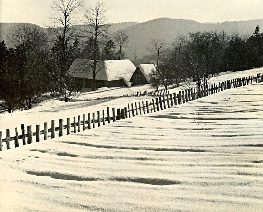 Zima v Beskydech 70. léta.