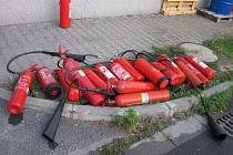 Požár v průmyslové zóně Lešná u Valašského Meziříčí.