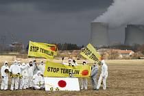 Vzpomínková akce na havárii v japonské továrně Fukušima u jaderné elektrárny Temelín. Ilustrační foto.
