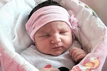 Sabina Tomesová, Hranice, narozena 4. června ve Valašském Meziříčí, míra 45 cm, váha 3300 g
