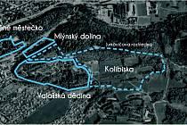 Vizualizace umístění nového areálu Kolibiska ve Valašském muzeu v přírodě v Rožnově pod Radhoštěm.