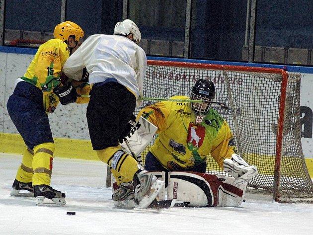Hokejová soutěž amatérů Pohár bobra ve Valašském Meziříčí.