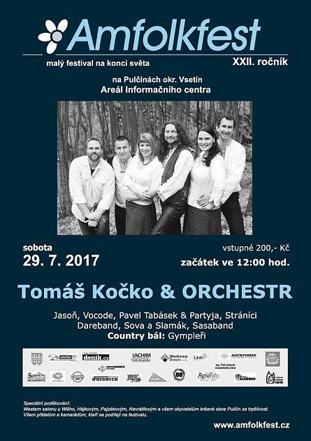 Plakát 22. ročníku Pulčínského Amfolkfestu