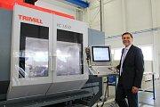 Společnost Trimill zabývající se výrobou obráběcích strojů slavnostně otevřela novou výrobní halu v areálu bývalé Zbrojovky ve Vsetíně. Na snímku spolumajitel společnosti Milan Julina.