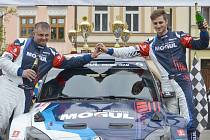 Vítězná posádka 35. Valašské Rally Jan Černý - Petr Černohorský junior