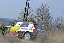 Testování před Valašskou Rally na Vizovicku.