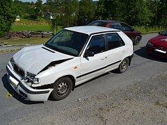 Dopravní nehoda ve Valašském Meziříčí.