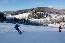 Valentýnské lyžování za hubičku