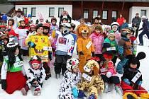 Zážitky v resortu Valachy. Maškarní lyžování.