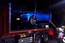 Požár osobního automobilu s plug-in hybridním pohonem ve Vsetíně