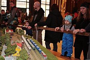 Výstava modelů železnice a vláčků ve vsetínském Domě kultury
