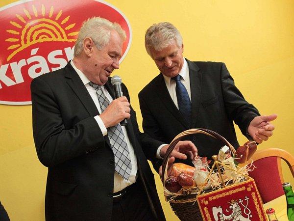 Návštěva prezidenta Miloše Zemana. Návštěva firmy MP Krasno