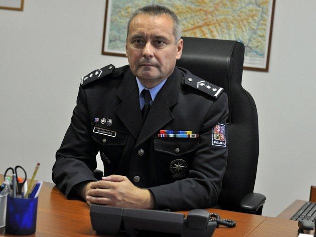 Vedoucí Územního odboru Policie ČR ve Vsetíně plukovník Ladislav Pajdla.