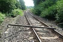 Překážka na trati v Poličné