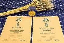 Ocenění Živa 2017 pro Valašské muzeum v přírodě v Rožnově pod Radhoštěm.