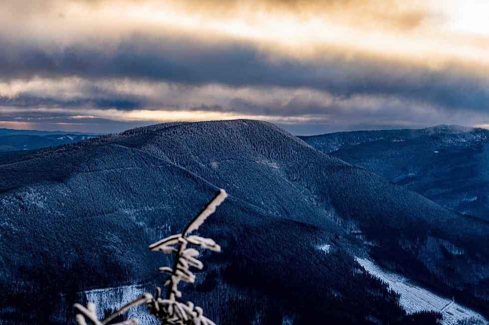 Západ slunce na Lysé hoře