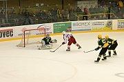 Vsetínští hokejisté zvítězili v nedělním utkání 9. dubna na Lapači nad celkem z Havlíčkova Brodu 4:3 až po prodloužení. V boji o postup do WSM ligy mají oba týmy shodný počet bodů. Rozhodnou tak až poslední zápasy s celkem Jablonce.