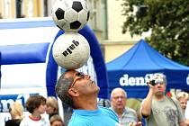 Míčový žonglér a 20násobný světový rekordman Bursas Charalambos.