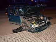 Jedenatřicetiletá řidička vozu Škoda Felicia bourala v noci na 1. května 2017 v Halenkově. Zranila se ona a její dva spolujezdci.