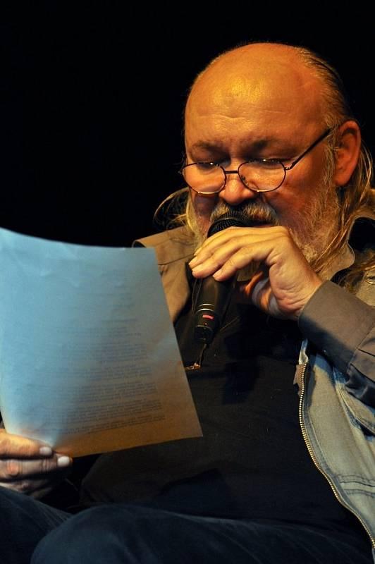 František Segrado na Noci literatury ve Vsetíně v květnu 2015
