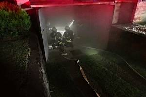 Požár v modelářské dílně v rodinném domě v Bystřičce na Vsetínsku; středa 20. října 2021