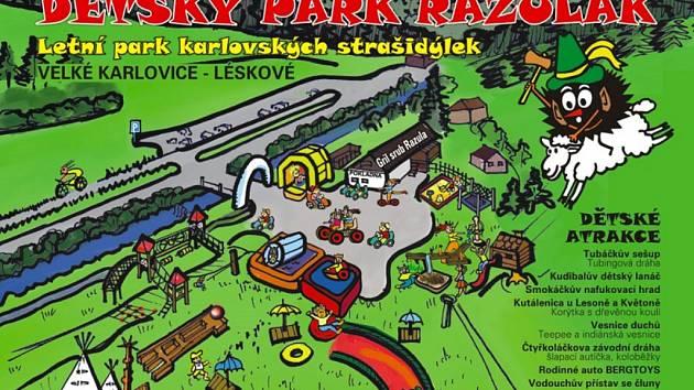 Mapa parku Razulák