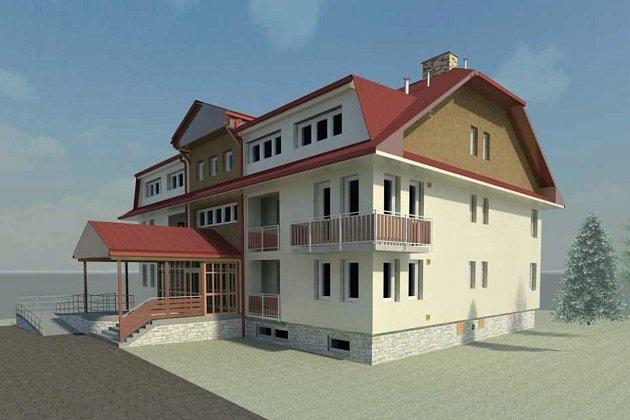 Bytový dům v Hošťálkové prochází rozsáhlými opravami, po kterých získá nové zateplení, okna, balkony i novou fasádu.
