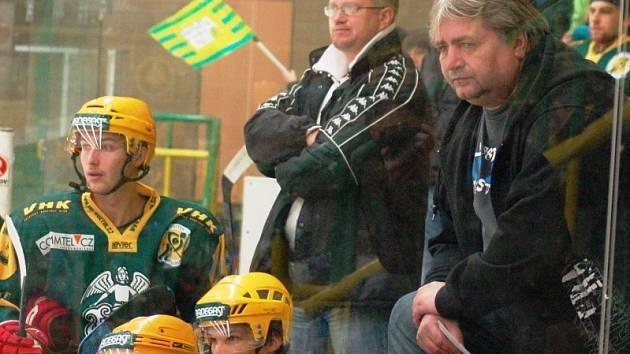 Střídačka hokejového Vsetína.