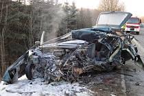 Tragické nehody u Dolní Bečvy - pátek 24. 1. 2020