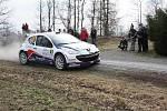 Průběh první etapy bonver valašské rally .