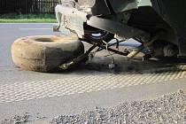 Dopravní nehoda u Lhoty u Vsetína.