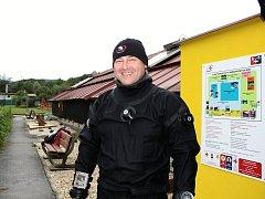 Instruktor potápění Jiří Baroš.