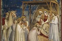 Giotto di Bondone – Klanění tří králů.