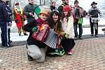 Masopustní průvod vítali lidé v Leskovci a Polance s otevřenou náručí