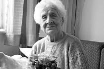 Paní Vlastimila Češková z Jarcové na Vsetínsku zemřela