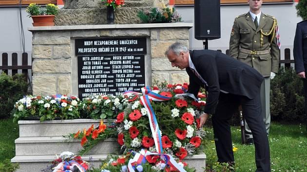 Pietní akt u příležitosti 69. výročí vypálení obce Prlov jednotkami SS (23. dubna 1945).