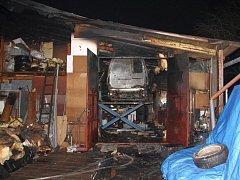 V obci Liptál došlo k požáru v dílně u rodinného domu