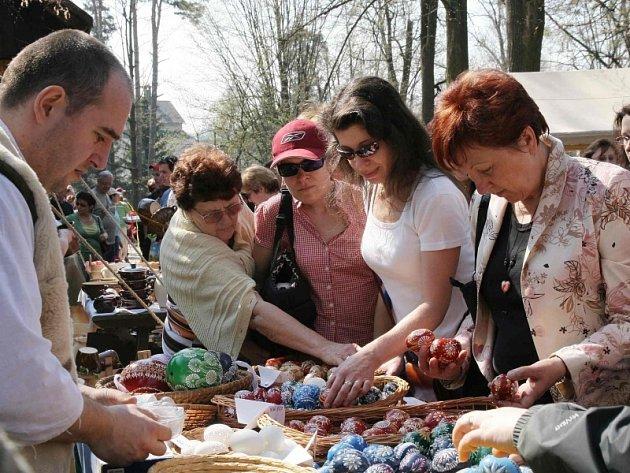 Akce Velikonoce na Valašsku ve Valašském muzeu v přírodě.