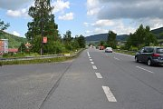 Nehoda motorkáře na silnici I/57 u Vsetína