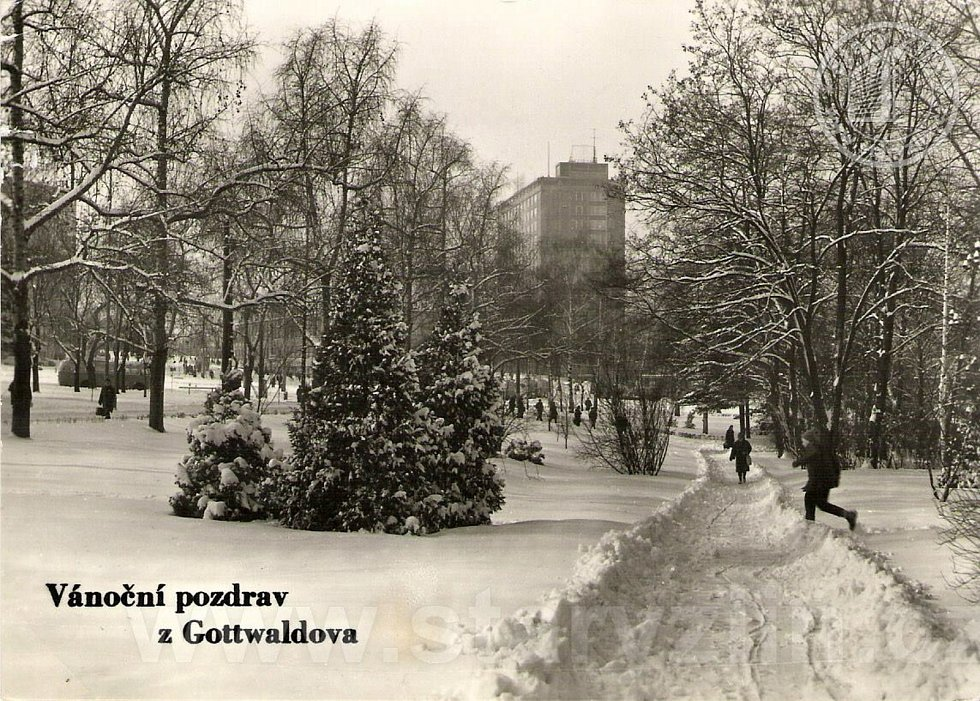 Zima ve Zlíně.