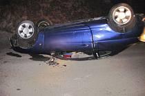 Dopravní nehoda mezi obcemi Bystřička a Mikulůvka.